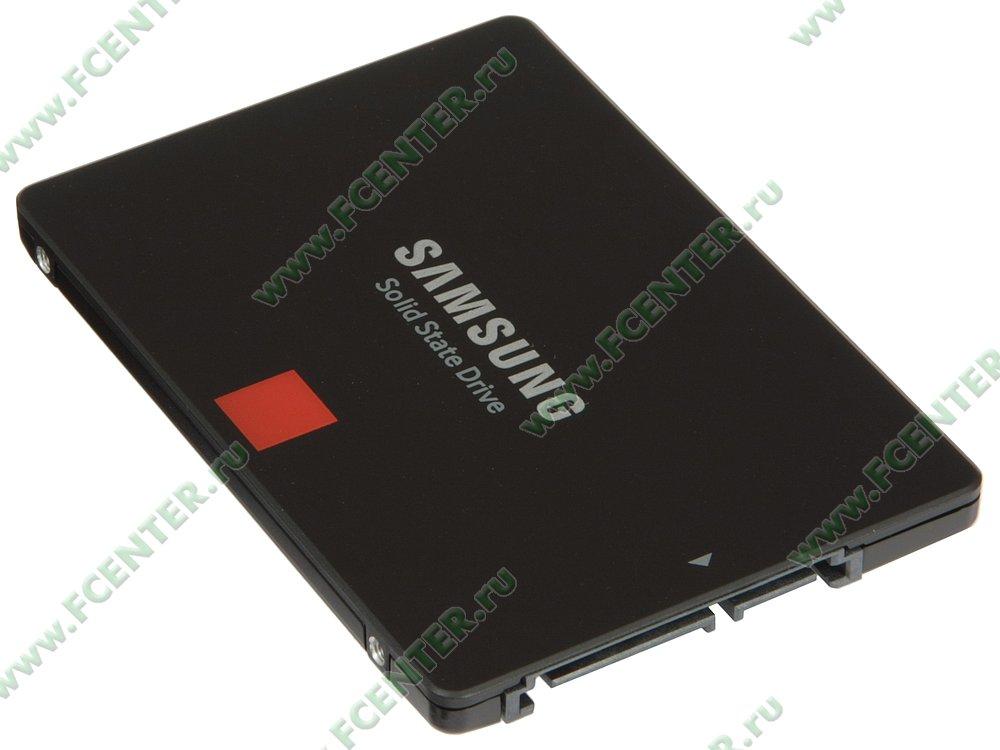 "SSD диск 256ГБ 2.5"" Samsung ""860 PRO"" (SATA III). Вид спереди."