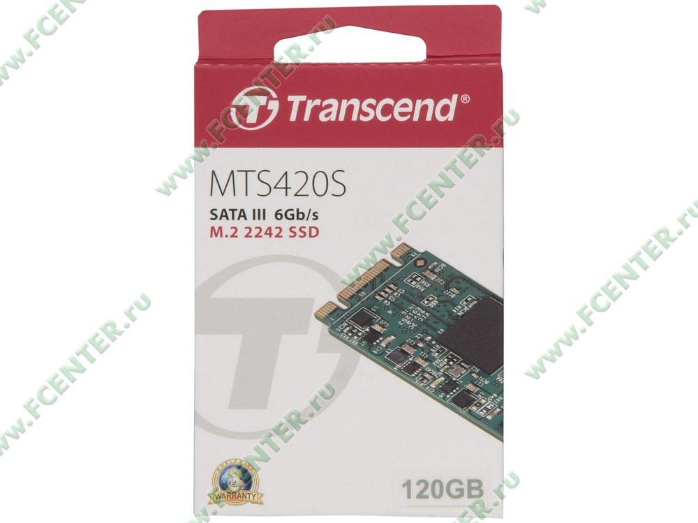 "SSD диск 120ГБ M.2 Transcend ""MTS420S"" (SATA III). Коробка 1."