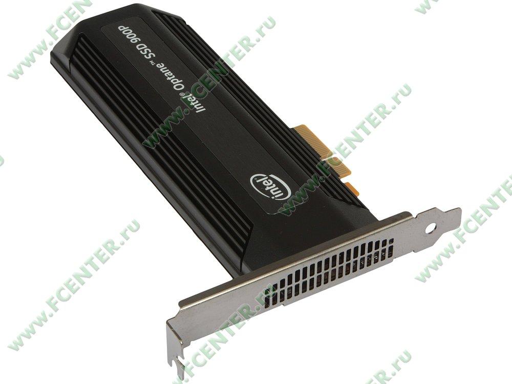 "SSD диск 280ГБ Intel ""Optane 900P"" SSDPED1D280GASX (PCI-E x4). Вид спереди."