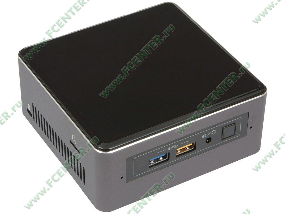 """Платформа """"NUC"""" Intel """"NUC7i7BNKQ"""". Вид спереди."""