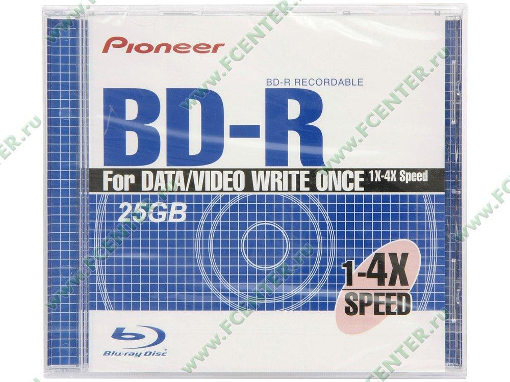 Диск BD-R 25ГБ 4x Pioneer. Коробка.