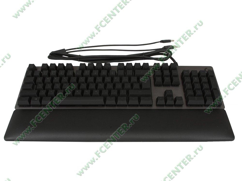 """Клавиатура Logitech """"G513 Carbon Linear"""" (USB2.0). Вид спереди 1."""