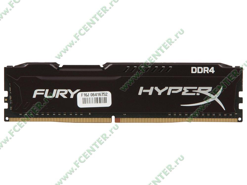 """Модуль оперативной памяти 8ГБ DDR4 Kingston """"HyperX FURY"""" (PC25600, CL18). Вид сверху."""