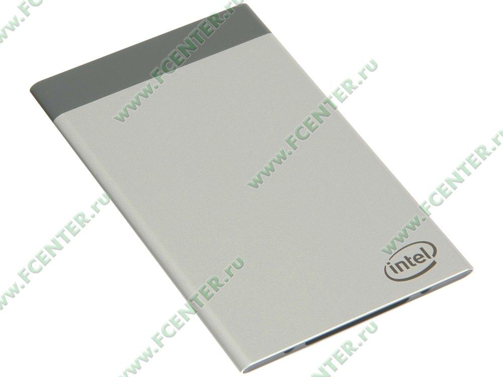 "Микрокомпьютер Intel ""Compute Card CD1C64GK"". Вид спереди."