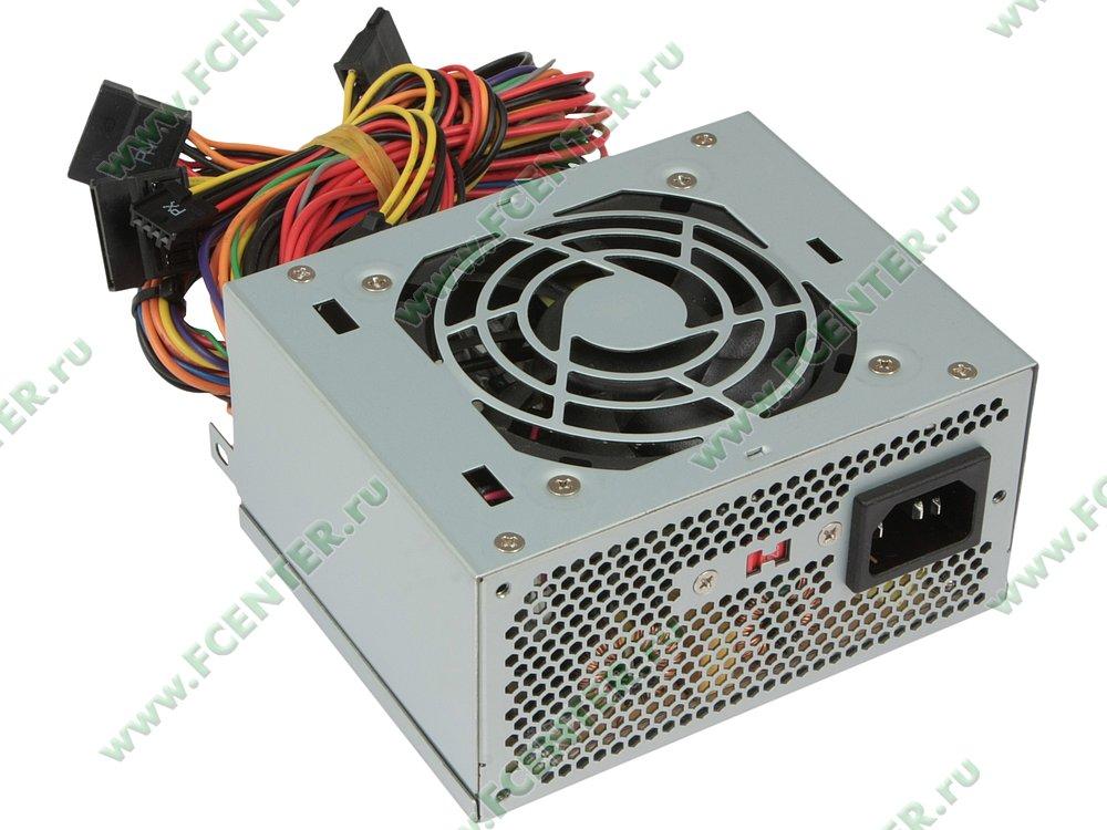 "Блок питания 300Вт IN-WIN ""Powerman IP-P300BN1-0"" SFX12V. Вид спереди."