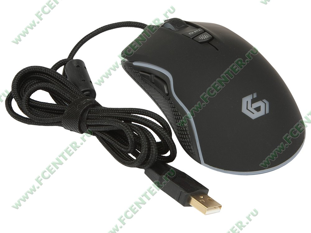 """Оптическая мышь Gembird """"MG-700 Intruder"""" (USB). Вид спереди."""