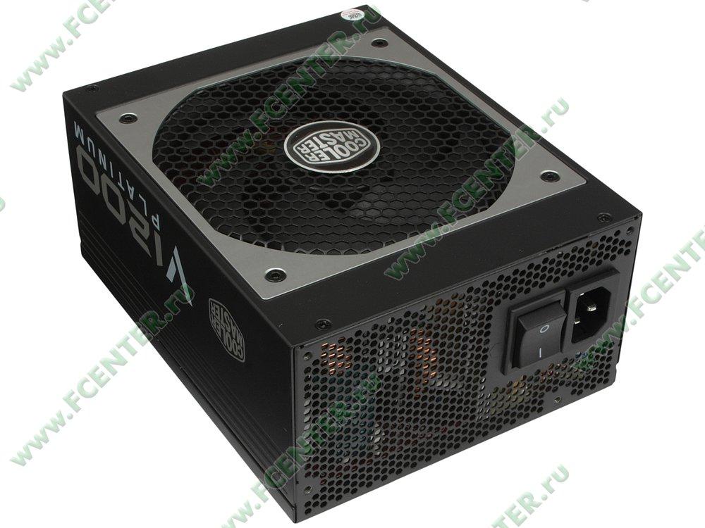 "Блок питания 1200Вт Cooler Master ""V1200 Platinum"" ATX12V V2.31. Вид спереди."
