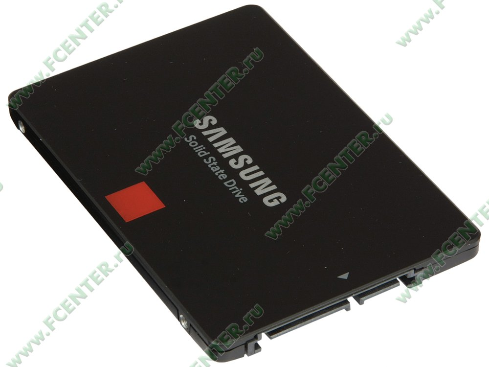 "SSD диск 512ГБ 2.5"" Samsung ""860 PRO"" (SATA III). Вид спереди."