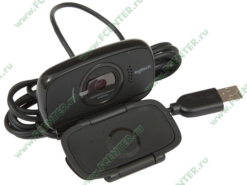 """Веб-камера Logitech """"B525"""" (USB2.0). Вид спереди 1."""