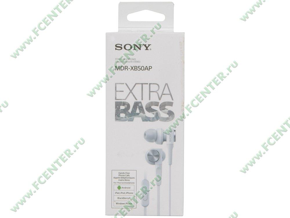 """Гарнитура Sony """"MDR-XB50AP/WQ(CE7)"""". Коробка 1."""