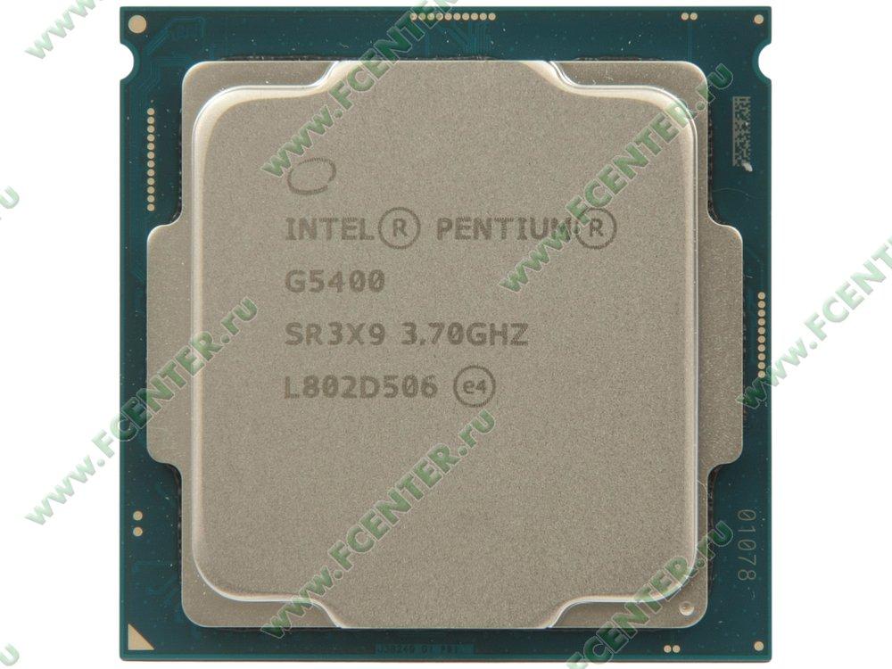 """Процессор Intel """"Pentium G5400"""" Socket1151. Вид сверху."""