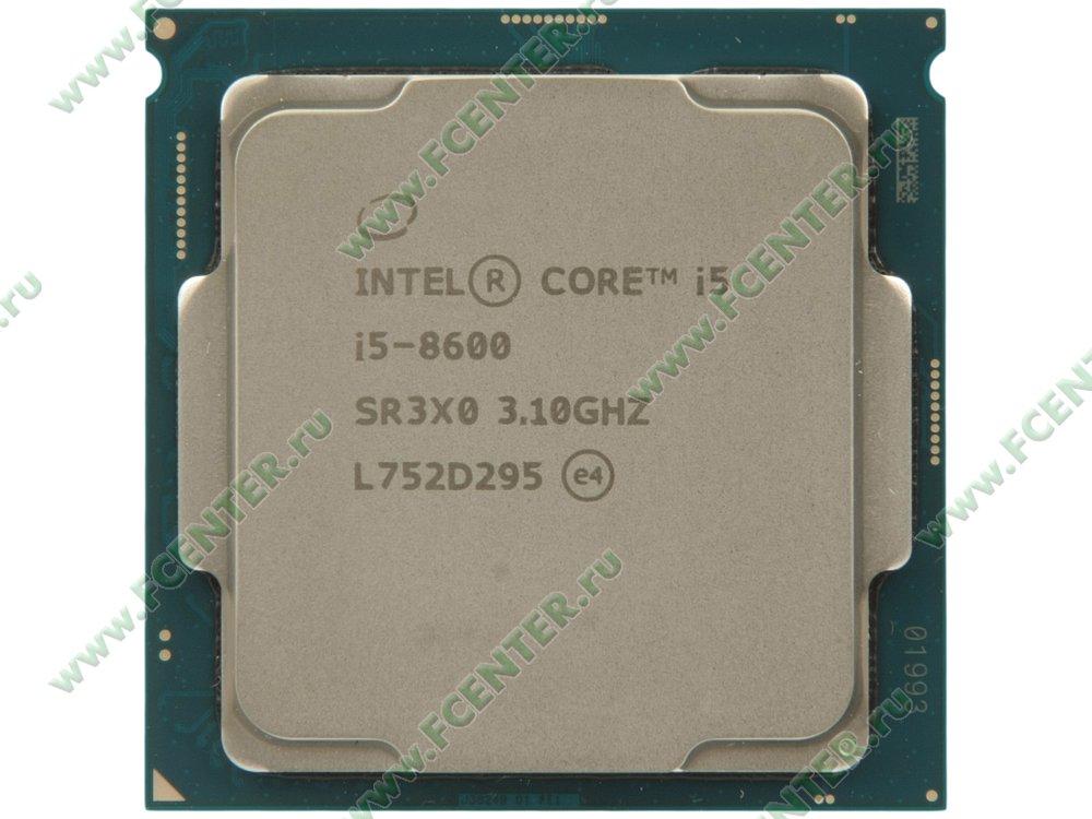 """Процессор Intel """"Core i5-8600"""" Socket1151. Вид сверху."""