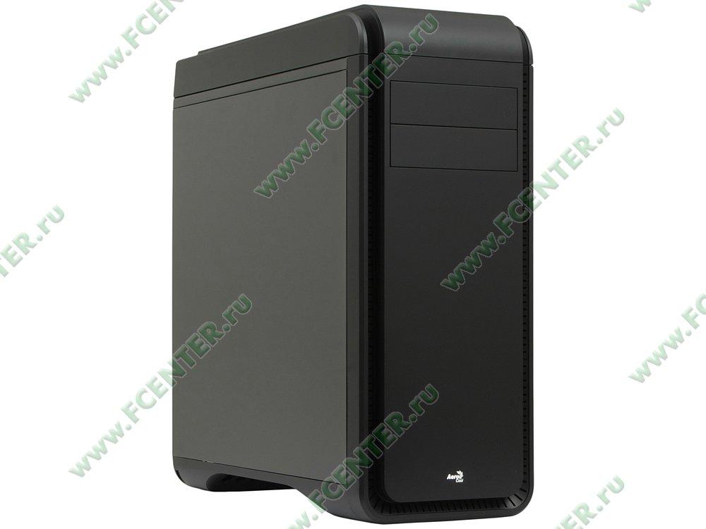 """Корпус Aerocool """"DS 200 Lite Black"""" (без БП). Вид спереди 1."""