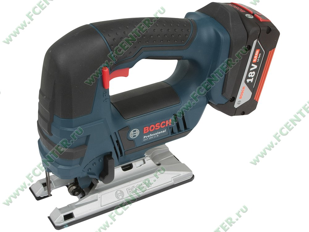 "Электролобзик Bosch ""GST 18 V-LI B Professional"". Вид спереди."