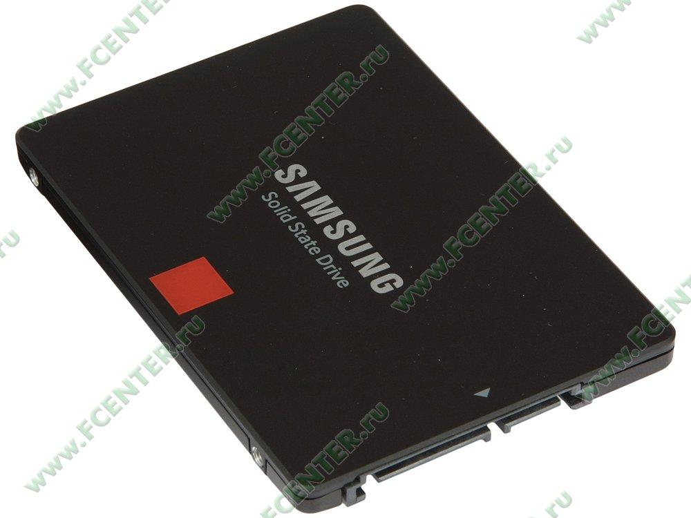 "SSD диск 1000ГБ 2.5"" Samsung ""860 PRO"" (SATA III). Вид спереди."
