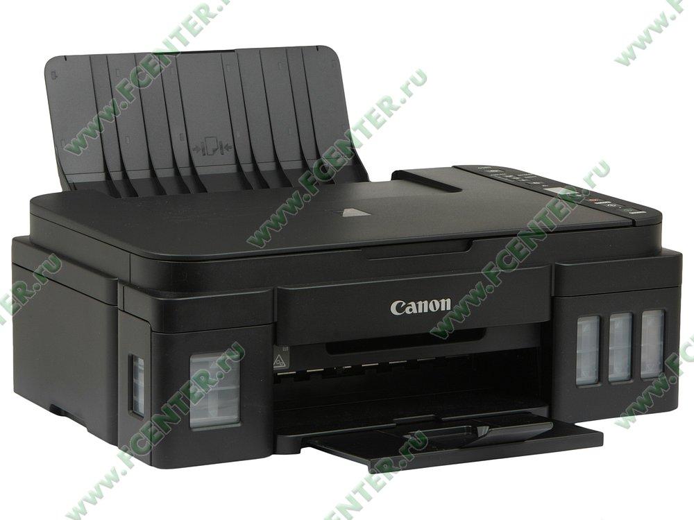 """Многофункциональное устройство Canon """"PIXMA G3411"""" (USB2.0, WiFi). Вид спереди 1."""