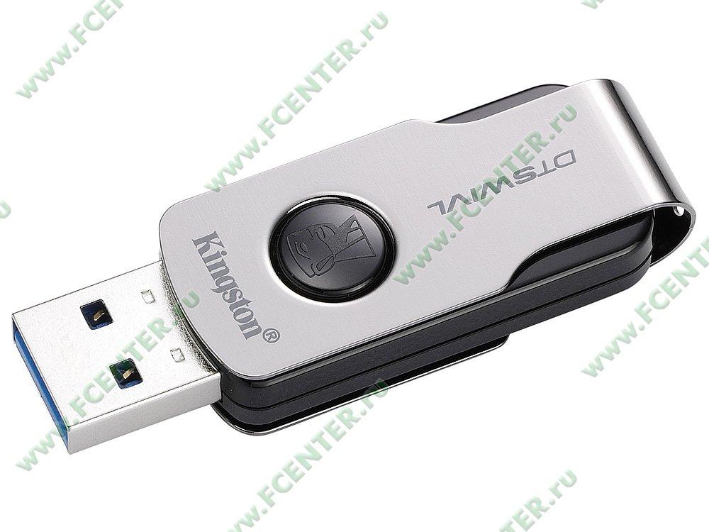 """Накопитель USB flash 16ГБ Kingston """"DataTraveler SWIVL"""" (USB3.1). Фото производителя 1."""
