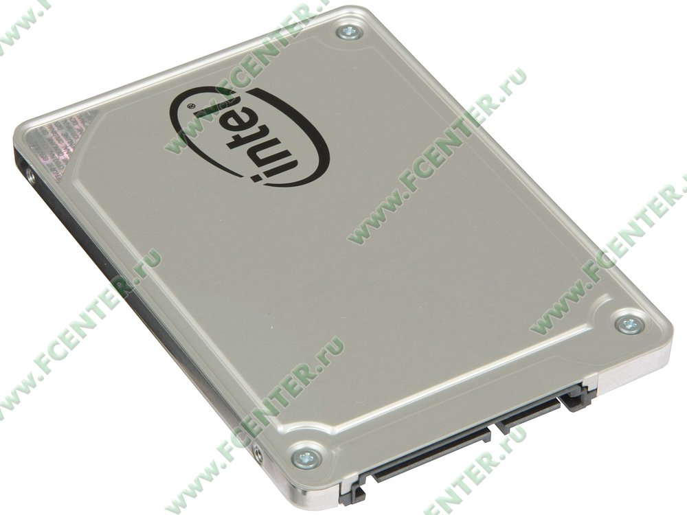 """SSD диск 128ГБ 2.5"""" Intel """"545s"""" SSDSC2KW128G8X1 (SATA III). Вид спереди."""