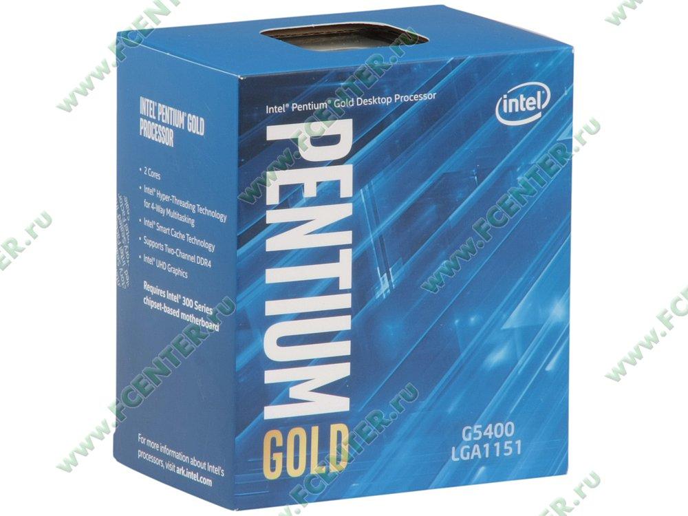 "Процессор Intel ""Pentium G5400"" Socket1151. Коробка."