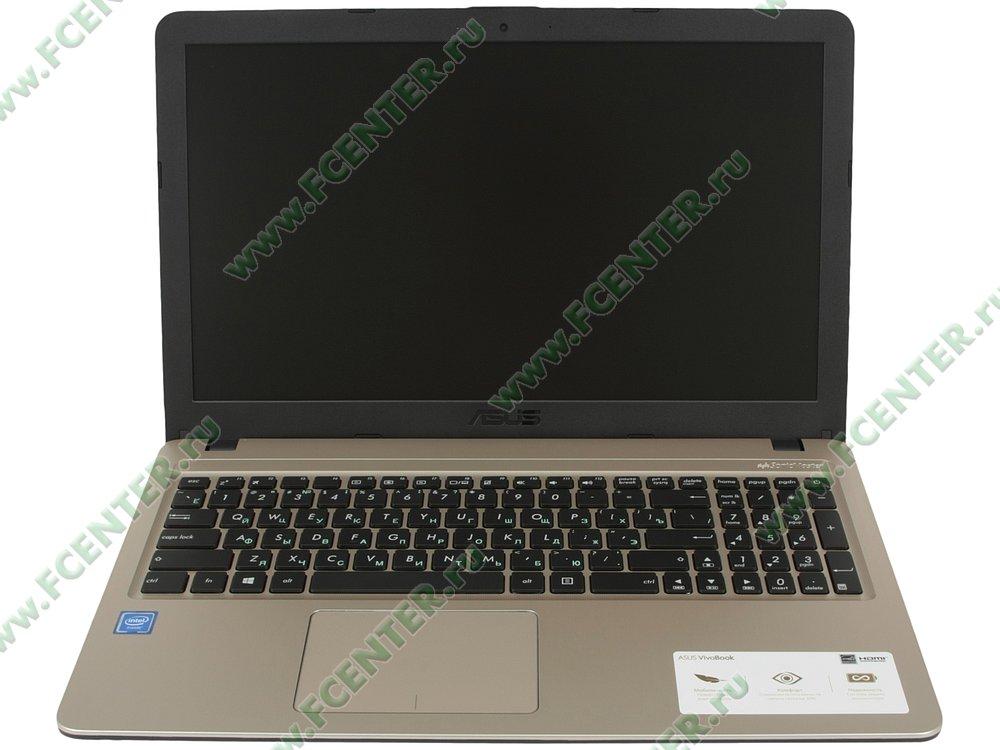 """Ноутбук ASUS """"X540NA-GQ149"""". Вид cпереди 1."""