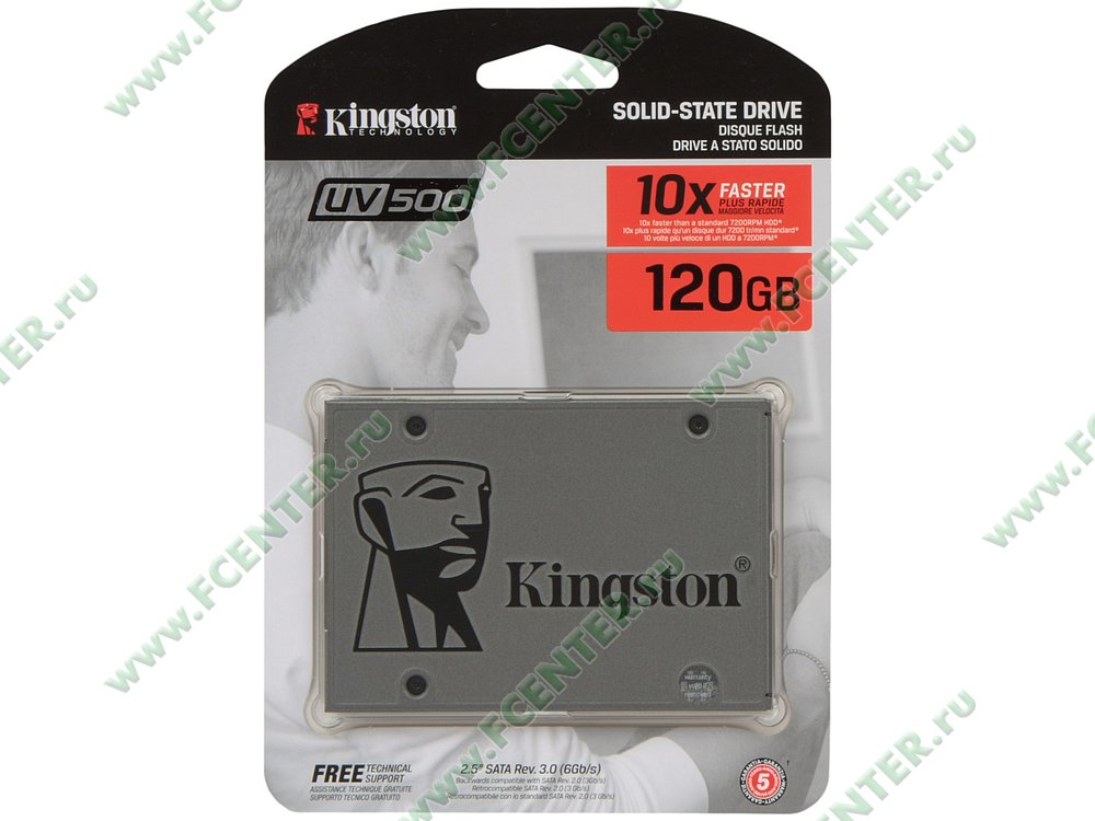 "SSD диск 120ГБ 2.5"" Kingston ""UV500"" SUV500/120G (SATA III). Коробка 1."