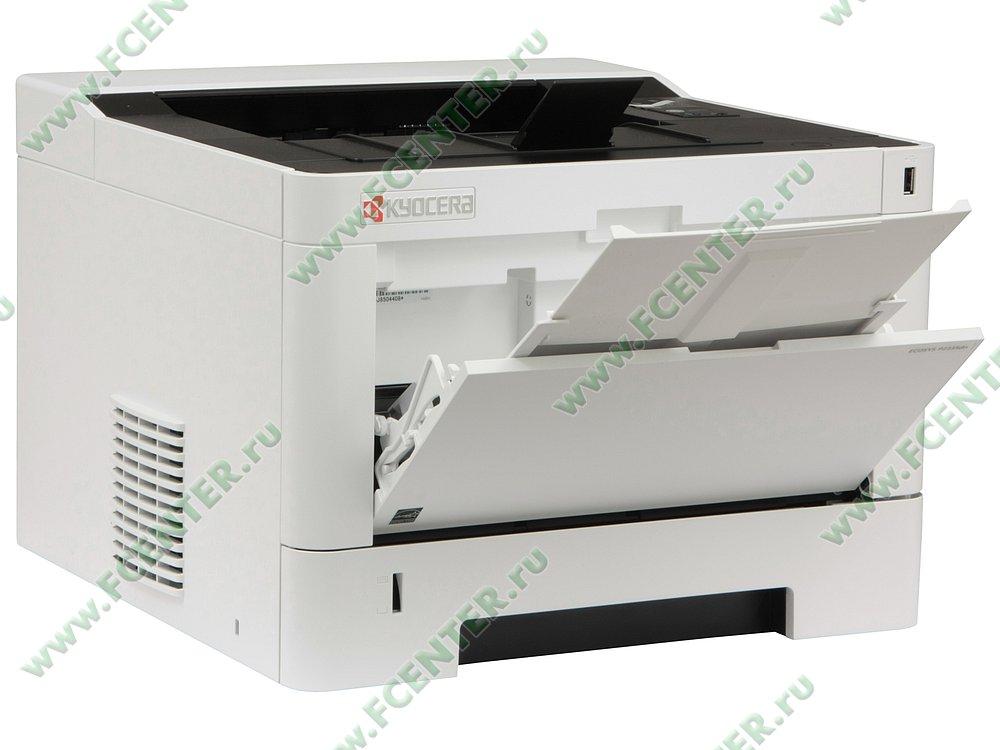 """Лазерный принтер Kyocera """"ECOSYS P2335dn"""" A4 (USB2.0, LAN). Вид спереди 1."""