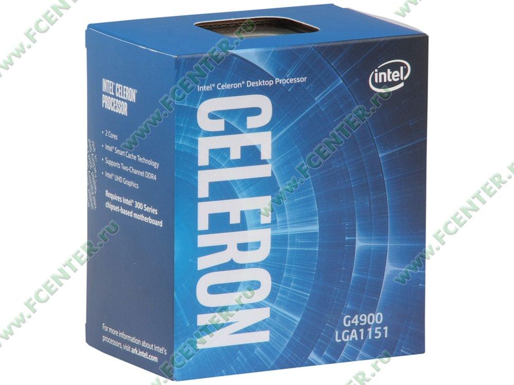 """Процессор Intel """"Celeron G4900"""" Socket1151. Коробка."""