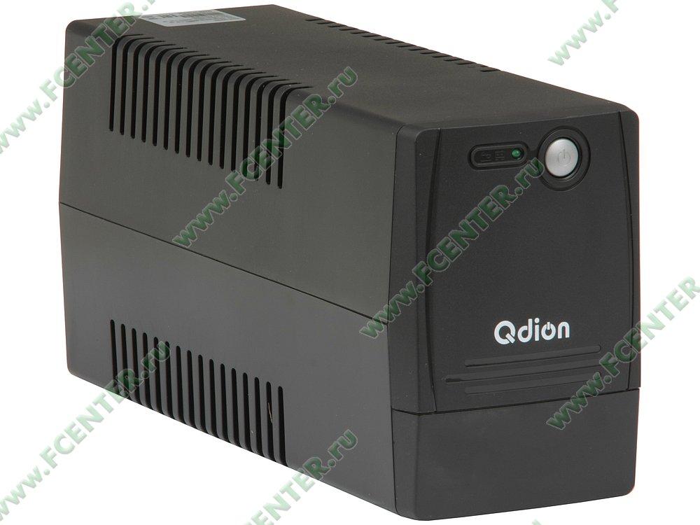 """Источник бесперебойного питания 650ВА FSP """"Q-DION QDP 650"""". Вид спереди."""