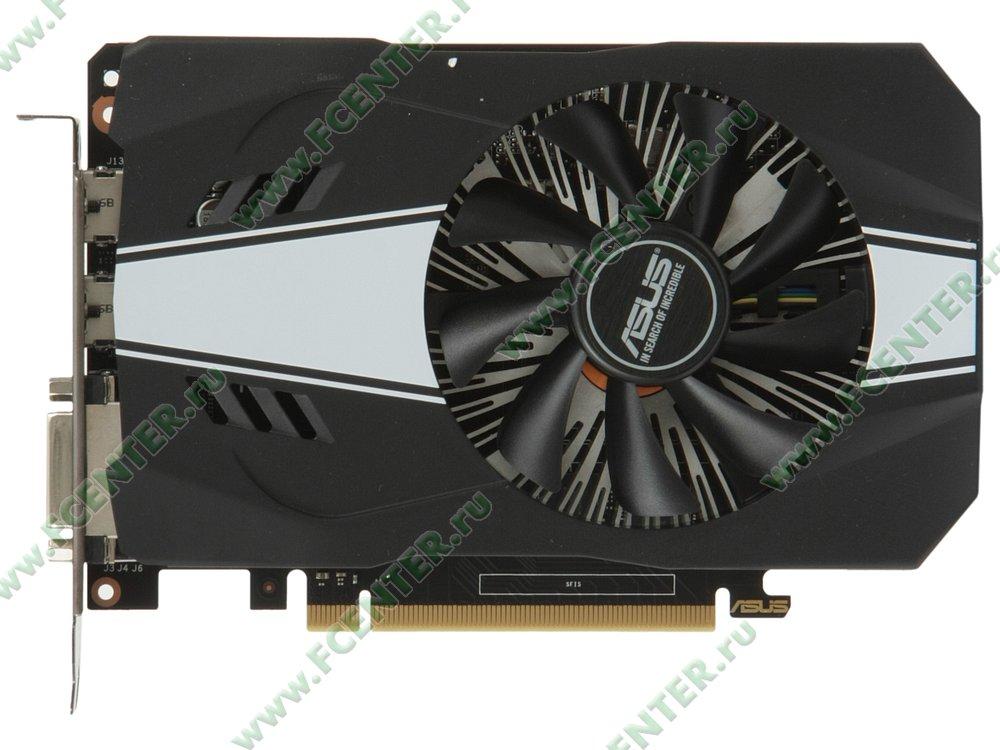 "Видеокарта ASUS ""GeForce GTX 1060 6ГБ"" PH-GTX1060-6G. Вид сверху."