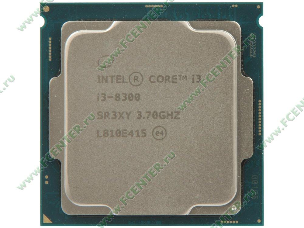 """Процессор Intel """"Core i3-8300"""" Socket1151. Вид сверху."""