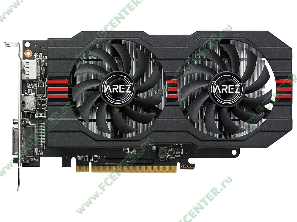 """Видеокарта ASUS """"Radeon RX 560 2ГБ"""" AREZ-RX560-2G-EVO. Фото производителя 1."""