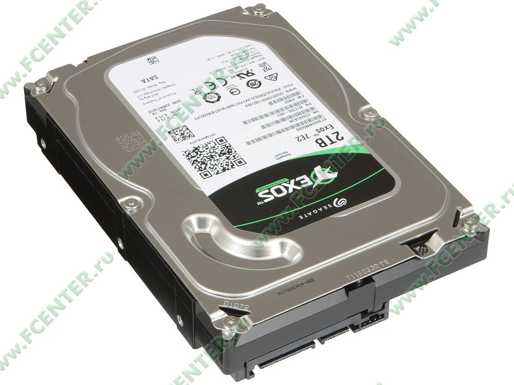 """Жесткий диск 2ТБ Seagate """"ST2000NM0008"""" (SATA III). Вид спереди."""