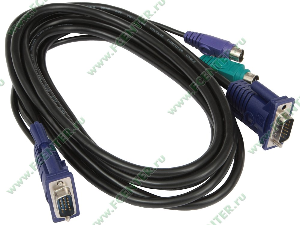 """null Кабель KVM D-Link """"DKVM-CB3/B1A"""". Вид спереди."""