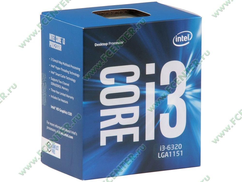 """Процессор Intel """"Core i3-6320"""" Socket1151. Коробка."""