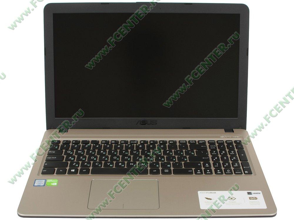 """Ноутбук ASUS """"X540UB-DM048T"""". Вид cпереди 1."""