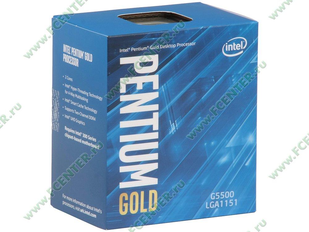 "Процессор Intel ""Pentium G5500"" Socket1151. Коробка."
