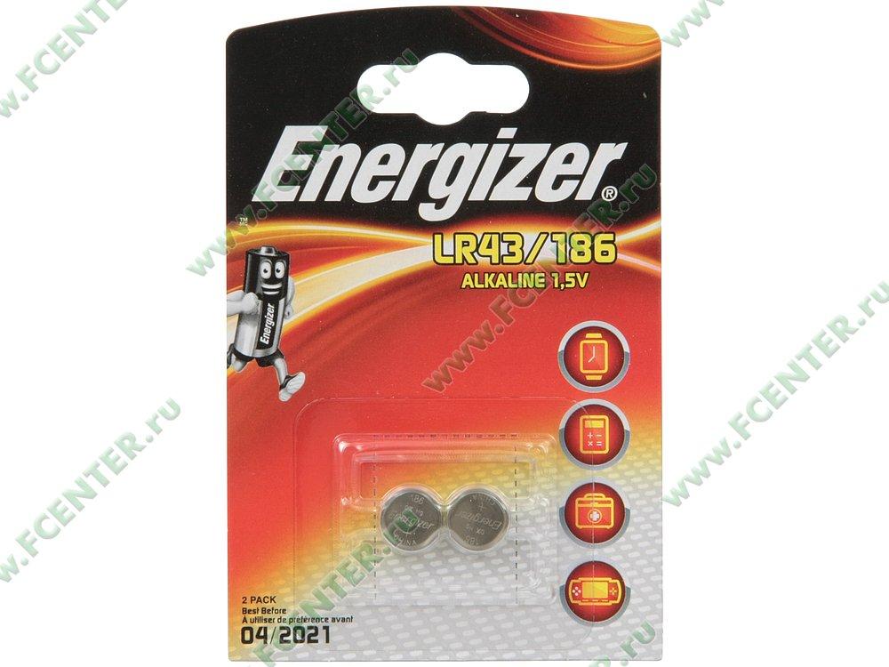 """Батарейка Energizer """"LR43/186"""". Коробка 1."""