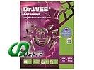 """Антивирус """"Dr.Web"""", 2 ПК на 1 год или 1 ПК на 2 года, рус. (DVD)"""