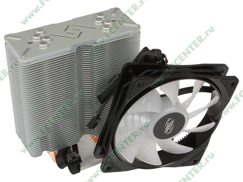 """Кулер для процессора Deepcool """"GAMMAXX GT DP-MCH4-GMX-RGB-GT"""". Вид спереди."""
