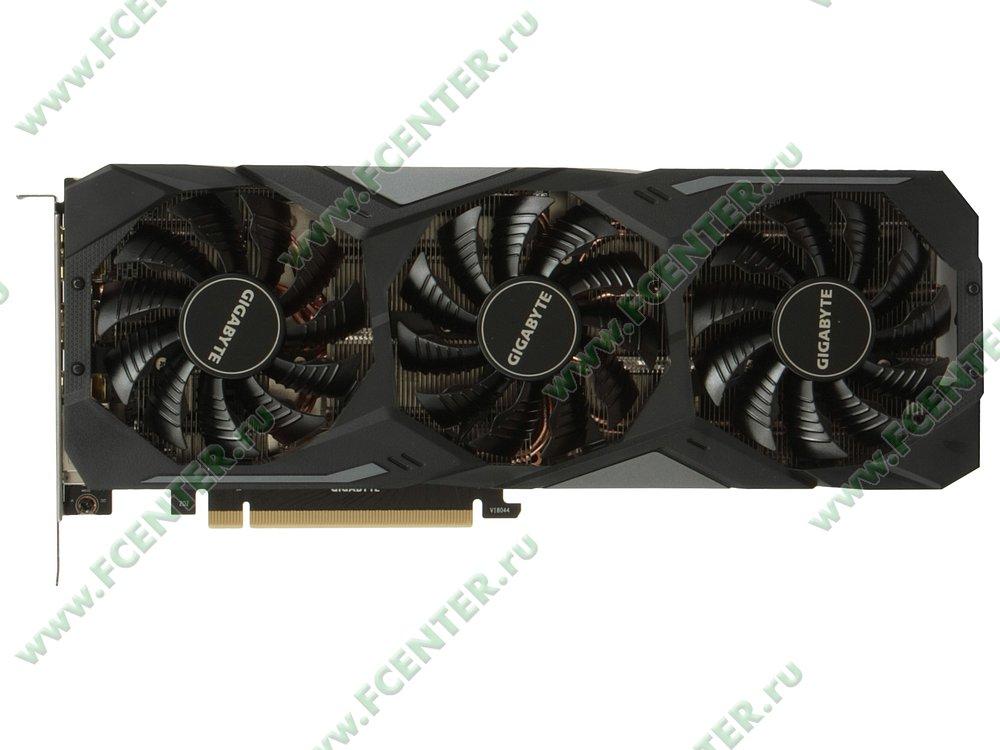 "Видеокарта GIGABYTE ""GeForce RTX 2080 GAMING OC 8G 8ГБ"". Вид сверху."