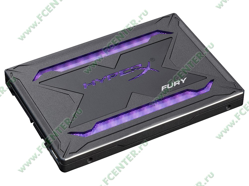 """SSD диск 240ГБ 2.5"""" Kingston """"HyperX FURY RGB"""" SHFR200/240G (SATA III). Фото производителя 1."""