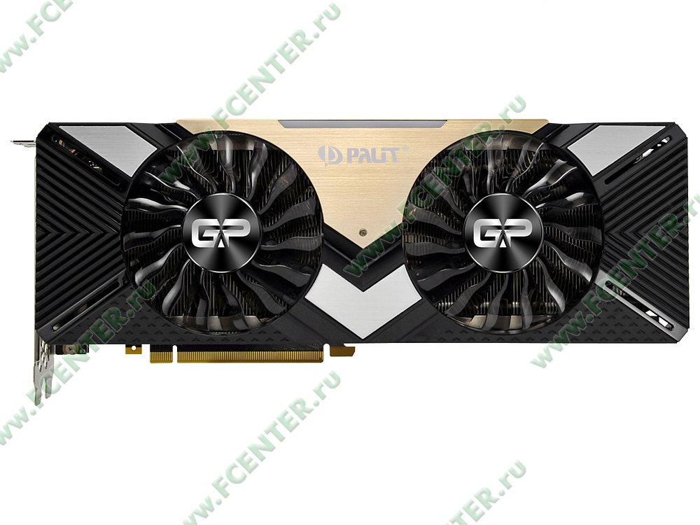 "Видеокарта Palit ""GeForce RTX 2080 GamingPro OC 8ГБ"". Фото производителя 1."