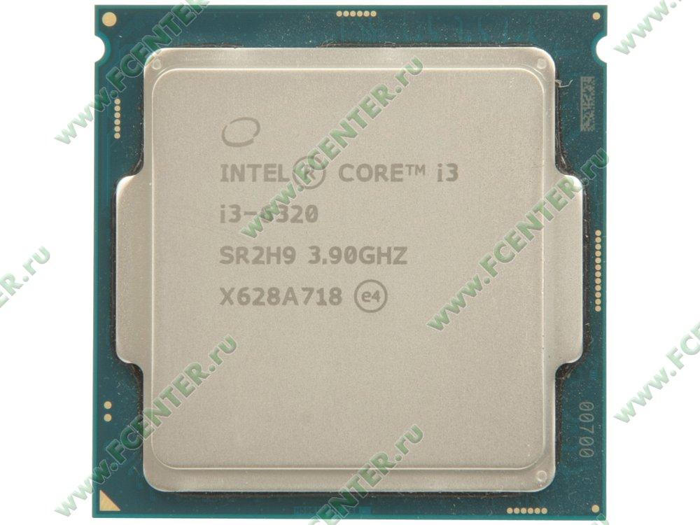 """Процессор Intel """"Core i3-6320"""" Socket1151. Вид сверху."""