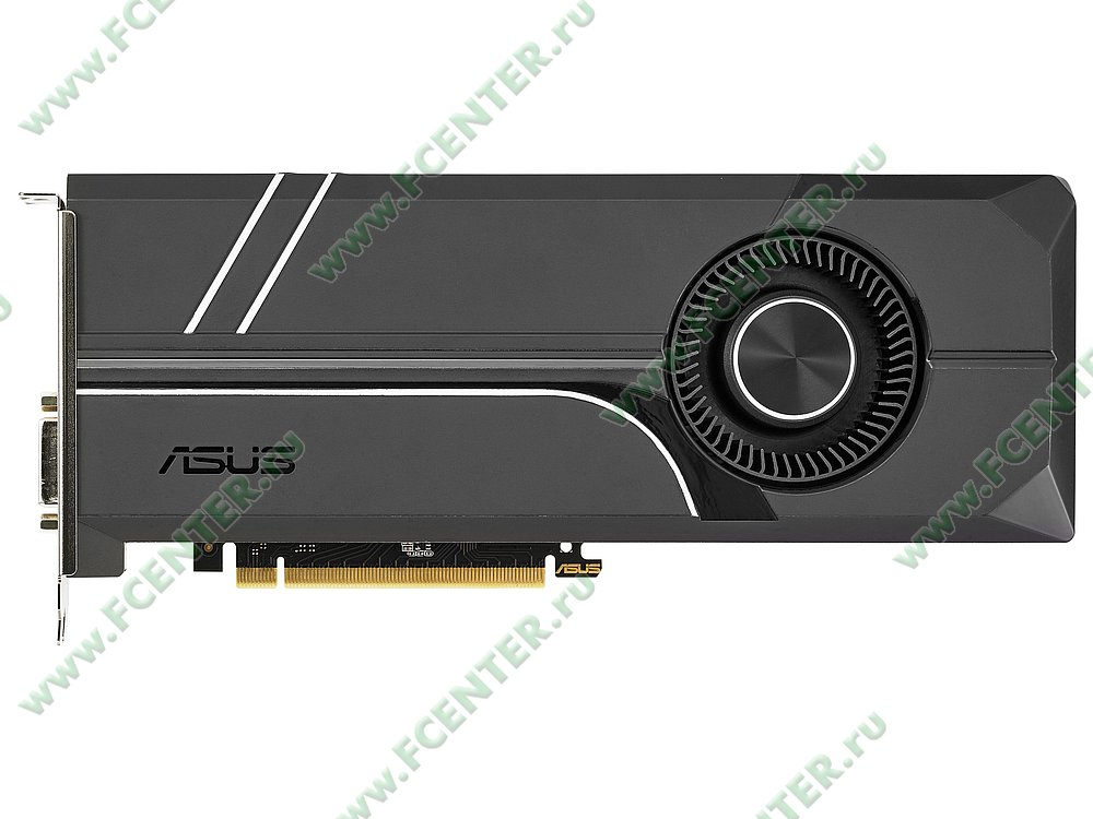 "Видеокарта ASUS ""GeForce GTX 1080 8ГБ"" TURBO-GTX1080-8G. Фото производителя 1."