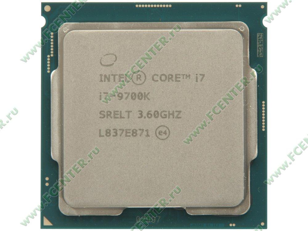 "Процессор Intel ""Core i7-9700K"" Socket1151. Вид сверху."