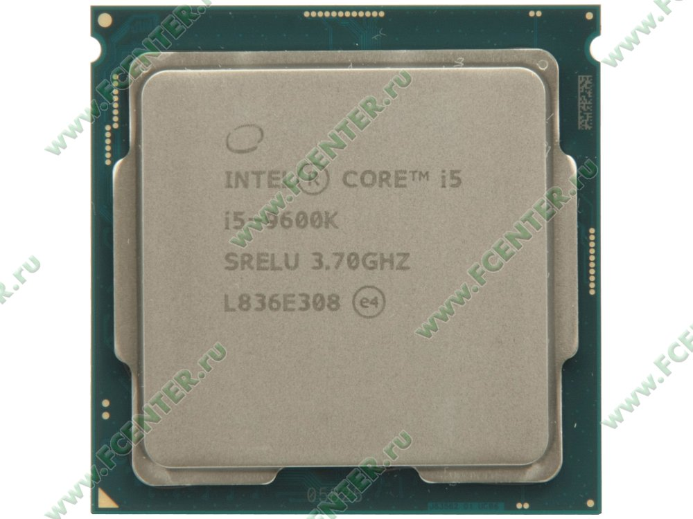 "Процессор Intel ""Core i5-9600K"" Socket1151. Вид сверху."