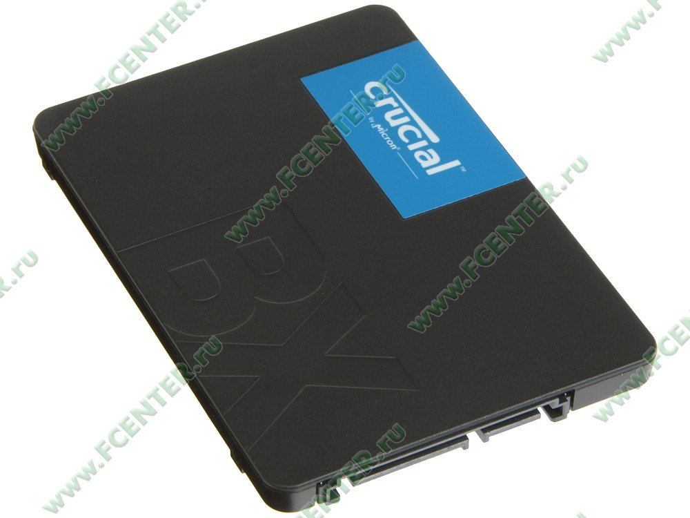 "SSD диск 240ГБ 2.5"" Crucial ""BX500"" (SATA III). Вид спереди."