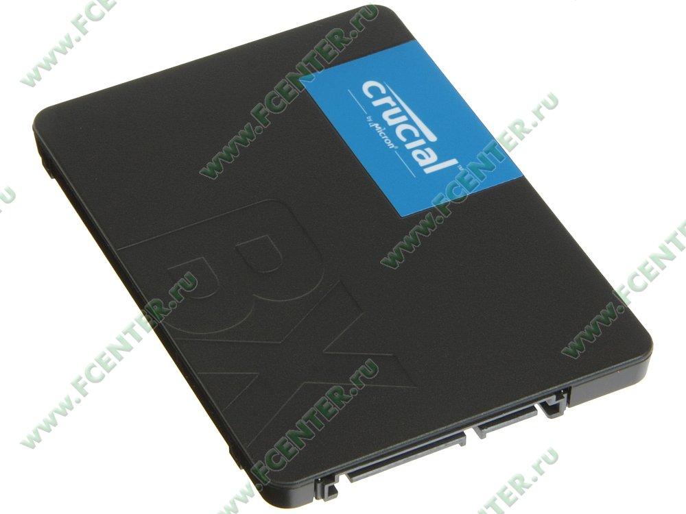 "SSD диск 120ГБ 2.5"" Crucial ""BX500"" (SATA III). Вид спереди."