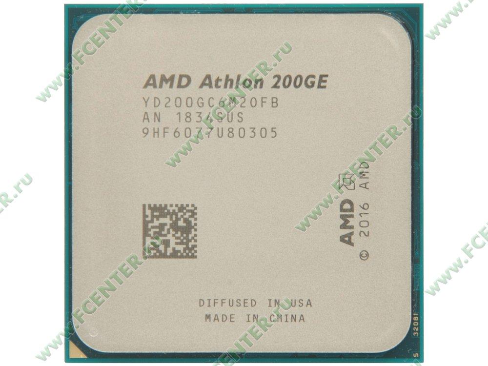 """Процессор AMD """"Athlon 200GE"""" SocketAM4. Вид сверху."""