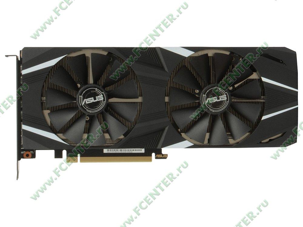"""Видеокарта ASUS """"GeForce RTX 2070 8ГБ"""" DUAL-RTX2070-O8G. Вид сверху."""